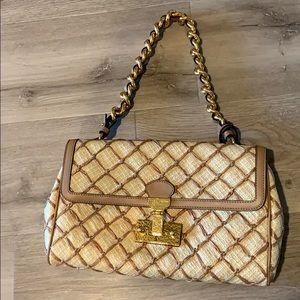 Marc Jacobs raffia woven baroque Faye bag